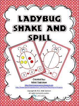 FREE Ladybug Shake and Spill Math Mat