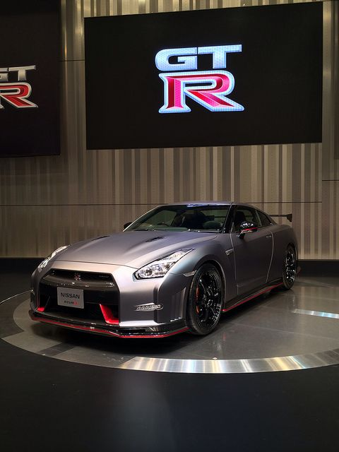2014 Nismo Nissan GT-R. What a sexy beast! Being showed off to the world.....