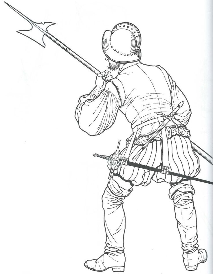 coloring pages of a conquistador - photo#28
