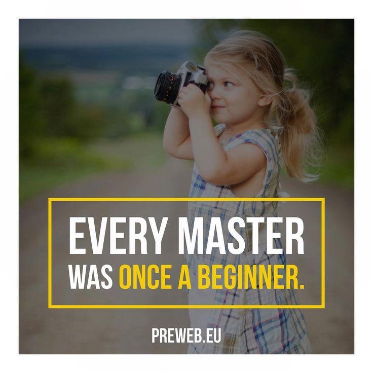 Jeder Meister war einst mal ein Anfänger. Wachstum benötigt Zeit. Hab keine Angst zu Scheitern. Starte jetzt.   Check: www.preweb.eu All in Websites Onlineshops Apps Fotografie Werbefilme und mehr.  #preweb#internetmarketing #onlinemarketing #webdesign #webdesigner #bielefeld #stuttgart #münchen #werbeagentur #künstler #berlin #selbständig #existenzgründung #hamburg #startups #music #düsseldorf #cologne #hannover #dortmund #event #dresden #startup #fitness #motivation #inspiration #inspire…