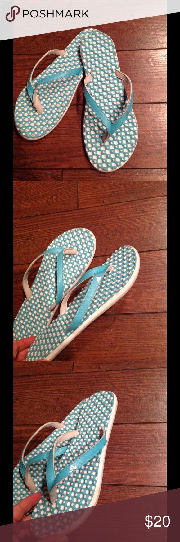 Adidas Flip Flops 9! Adidas flip flops size 9 good condition!!! Shoes Sandals