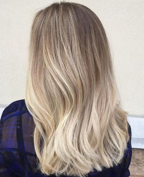 dark blonde to platinum ombre