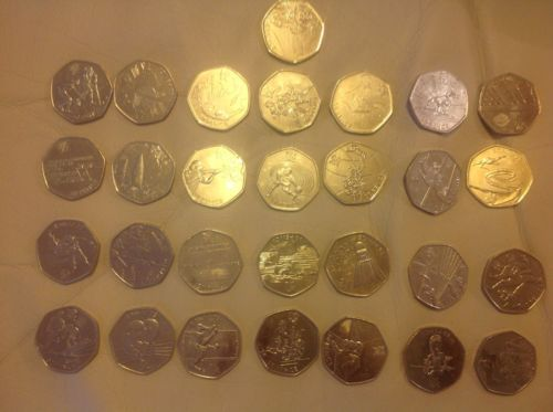 Full set of 29 olympic 50p #fifty #pence 2011 #coins inc triathlon wrestling foot,  View more on the LINK: 	http://www.zeppy.io/product/gb/2/391295141857/