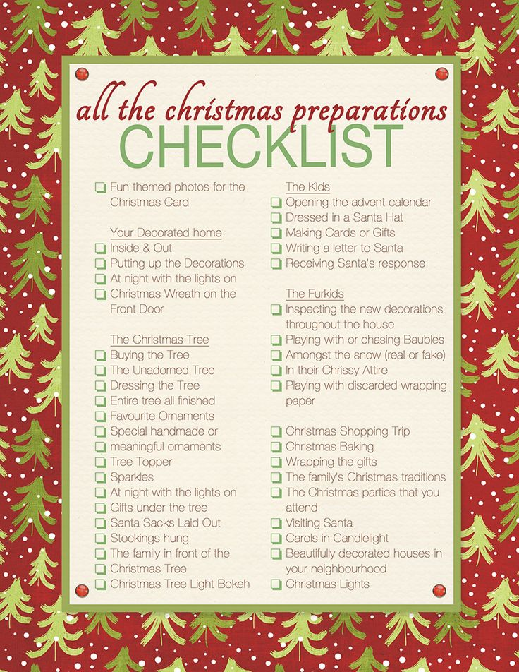 13 best Christmas checklists images on Pinterest Christmas - christmas checklist template