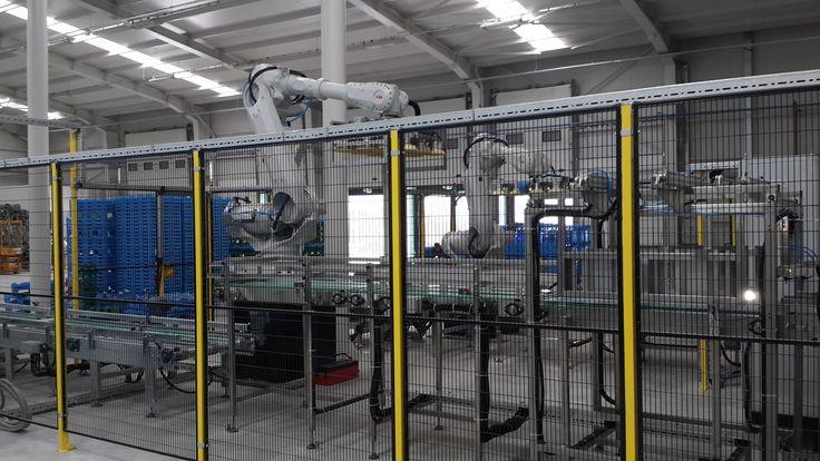 damacana viyol paletleme robotu tara robotik otomasyon