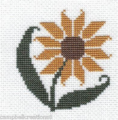 finished completed cross stitch PRAIRIE SCHOOLER sunflower PREORDER