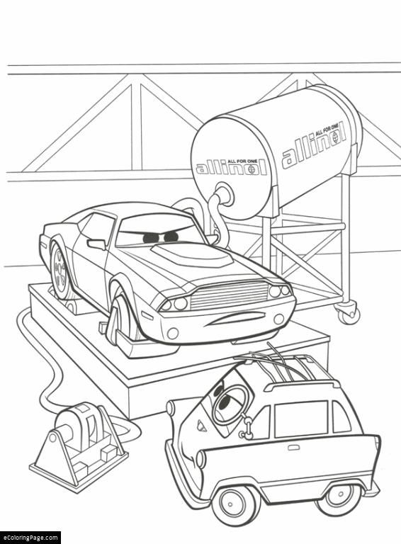 Cars 2 Coloring Pages eColoringPage com Printable