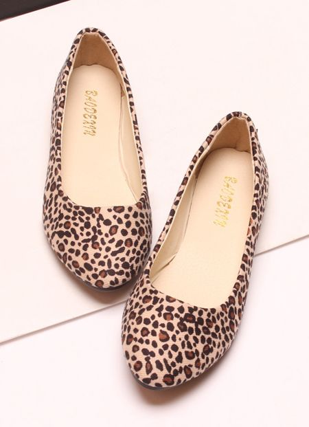 Casual Leopard Print and Round Toe Design Women's Flat Shoes, LEOPARD, 38 in Flats | DressLily.com