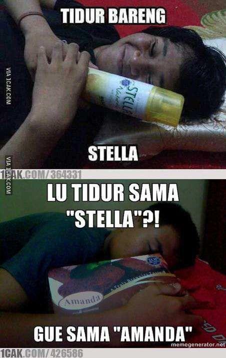tidur sama stella dan amanda
