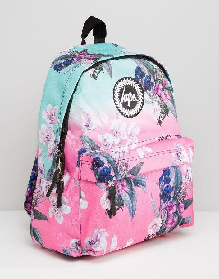 4c9e7239428ee5 Hype | backpack | Backpacks, Floral backpack, Adidas backpack