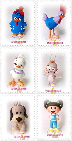 Personagens em biscuit http://www.elo7.com.br/turma-galinha-pintadinha/dp/45EAEA