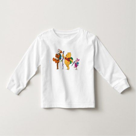 Piglet, Tigger, and Winnie the Pooh Hiking Toddler T-shirt - tap, personalize, buy right now!