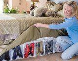 Bed Skirt Shoe Organizer Hidden Storage System  List Price: $22.51 Discount: $0.00 Sale Price: $22.51