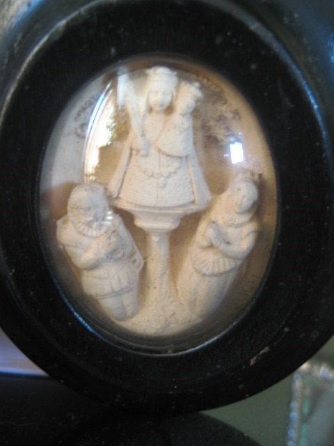 Our Lady of the Pillar Sculpted French by TheRecycledCatholic, $110.00
