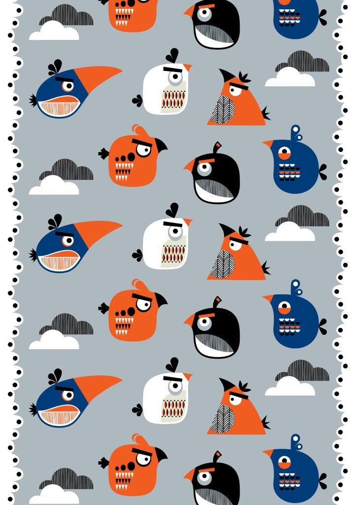 """Sky"" fabric,150 cm - Angry Birds Interior Collection by Vallila"