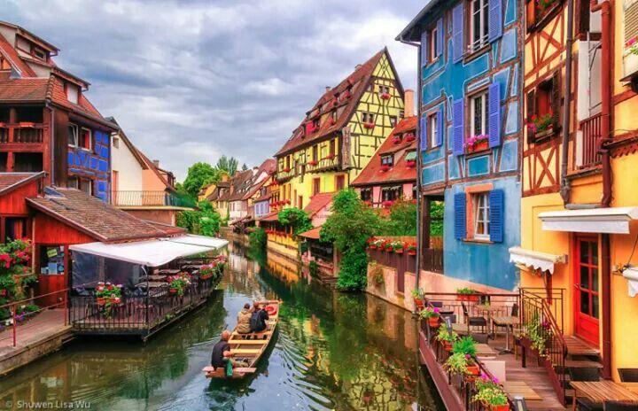 Ciudad de Colmar en Francia