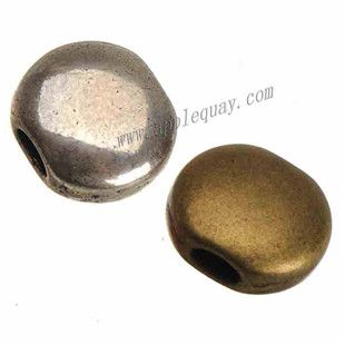Zinc Alloy Flat Smooth Beads,Plated,Cadmium And Lead Free,Various Color For Choice,Approx 12.5*14*7mm,Hole:Approx4*2mm,Sold By Bags,No 010780