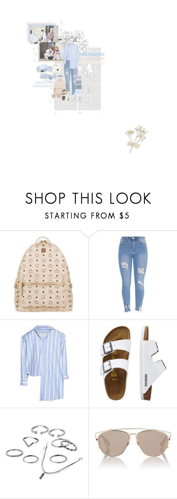 """""""Summer Vibes with Yoongi & Jimin // 8:02 // 20170701"""" by sinxv ❤ liked on Polyvore featuring Oris, GET LOST, MCM, Vetements, TravelSmith, Christian Dior and Fujifilm"""