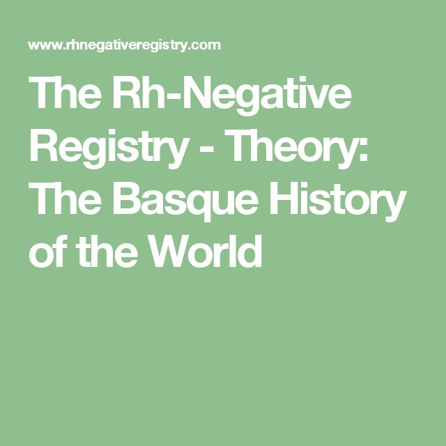 basque people rh negative
