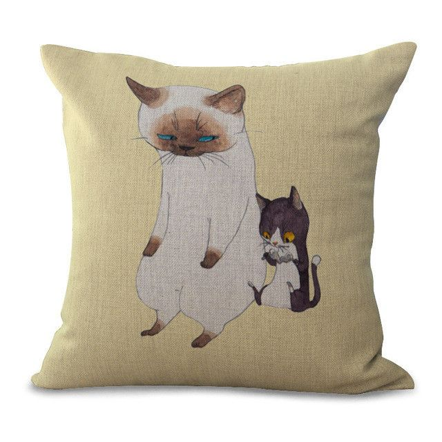 Cartoon Animal Cotton Embrace Pillow Case Hand The Dog Window Bedroom Pillow Case Office Chair Cushion