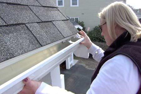 This Old House general contractor Tom Silva shows how to install an efficient rain-handling gutter system.