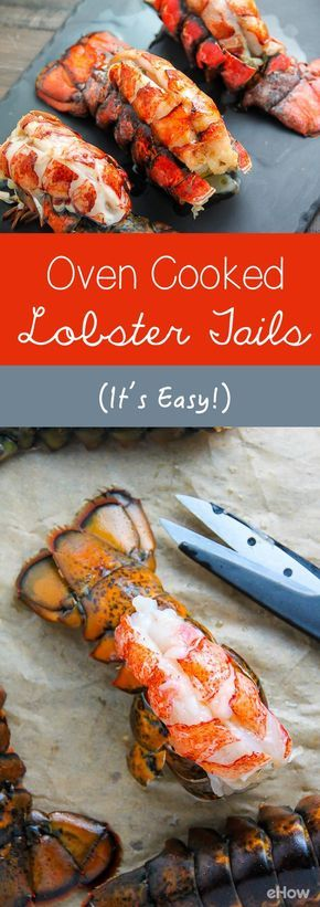 Lobster tails are one of my favorite meals to make at home on special occasions. While lobster tails can be made a variety of ways, such as steamed, cooking them in the oven is quick, easy and absolutely delicious.  http://www.ehow.com/how_4779451_cook-lobster-tails-oven.html?utm_source=pinterest.com&utm_medium=referral&utm_content=freestyle&utm_campaign=fanpage