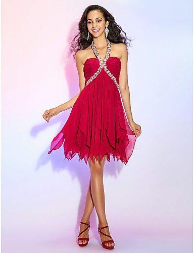 Vestido Coctail Mini Falda Rojo @ Vestidos de Fiesta Baratos