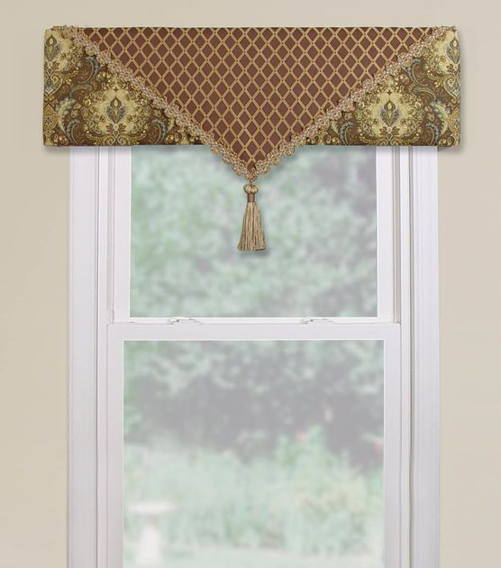 How to Make a Fabric - Covered Cornice - this is an easy, no - sew project - Joann Fabrics