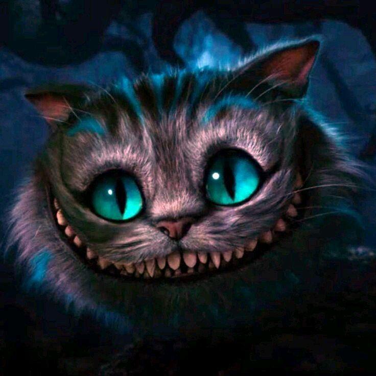Чеширский кот открытка с днем рождения