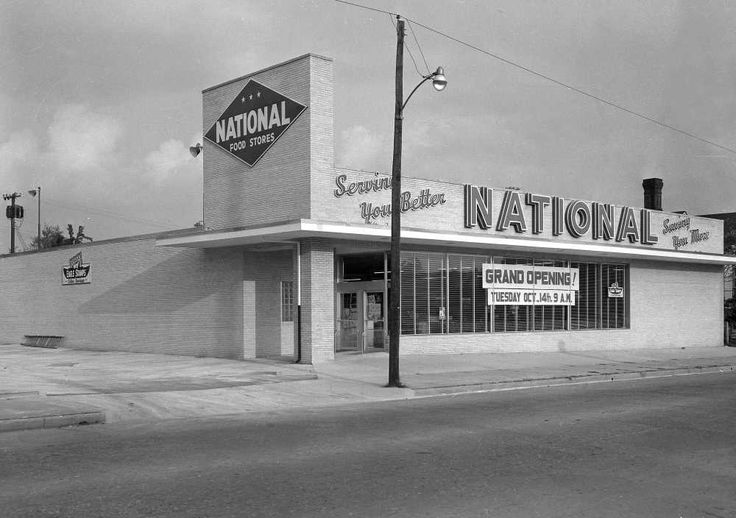 Oct.13, 1958 Southeast Missourian Food Store to Open Tuesday in New Building on Sprigg Formal opening of the new National Food Store, Cape's latest supermarket, located at Sprigg and William, will be held at 9 Tuesday morning. A ribbon-cutting ceremony is to open the formalities and will be followed by talks by Sen. A.M. Spradling Jr. and several representatives from the home office of the company in St. Louis...