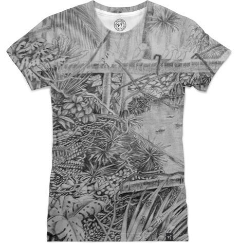 Frog in Rainforest by Peter Grayson - Women's T-Shirts - $49.00  #Nuvango #pencil #rainforest #TShirt