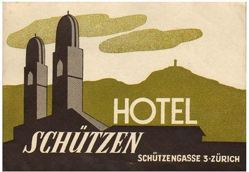 Svizzera - Zurigo - Hotel Schutzen       Amore  Lavoro  Fortuna   Futuro
