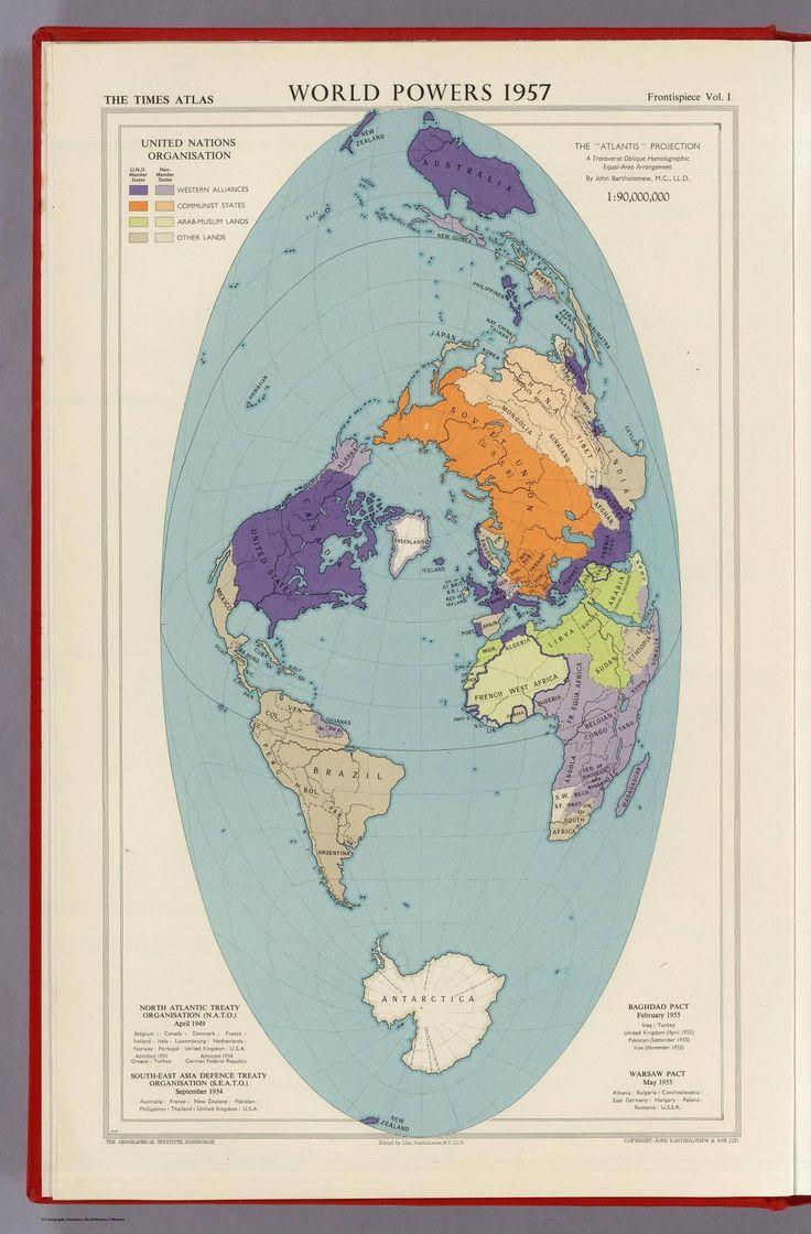 World Powers 1957 - Atlantis Projection A Transverse Oblique Homolographic Equal Area Arrangement.