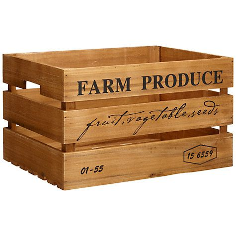 Buy John Lewis Botanist Large Wooden Crate Online at johnlewis.com. (for storing fruit and veg or glass recycling.) £20.00