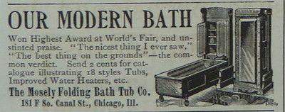 1894 Antique Victorian Folding Murphy Bed Style Bathtub Decor Original Print Ad | eBay