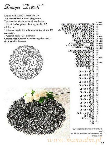 serwetka robiona na drutach wzor (3)