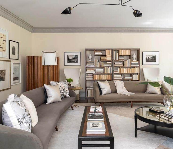 Residential Interior Design: Painted Brick Georgian Home Interior Design