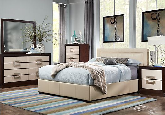 Shop For A City View Cream 5 Pc Queen Bedroom At Rooms To Go Find Queen Bedroom Sets That Will