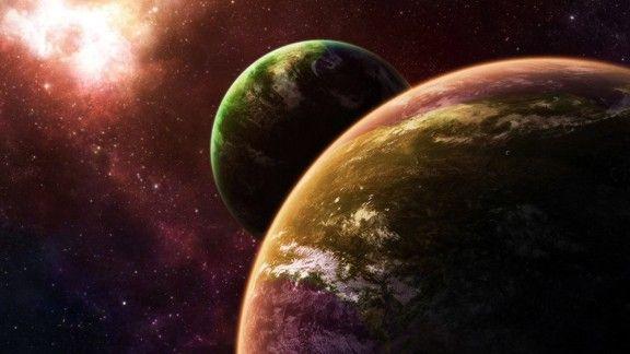 İki Dünya #wallpaper #world #dünya #uzay #space #abstract #soyut