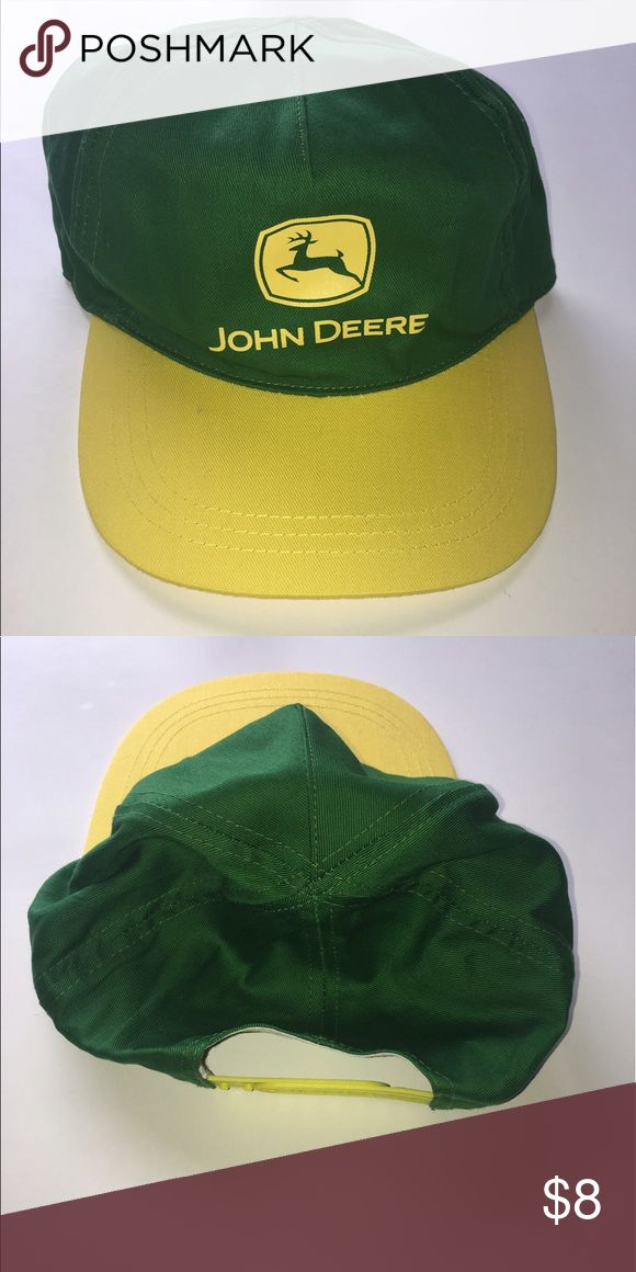 John Deere snap back hat John Deere snap back hat green/yellow John Deere Accessories Hats