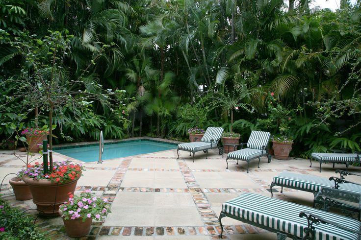classic small pool in a Palm Beach villa