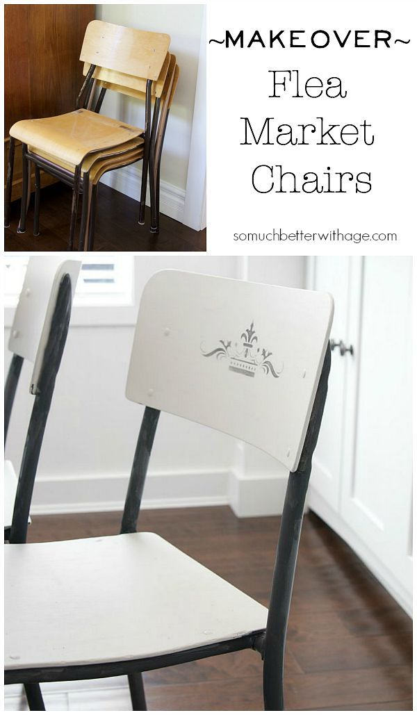 Makeover to flea market chairs | somuchbetterwithage.com