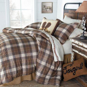 Rugged Rancher Western Plaid Comforter Set