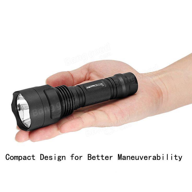Astrolux C8 XP-L HI 1300Lumens 7/4modes A6 Driver Tactical EDC LED Flashlight 18650