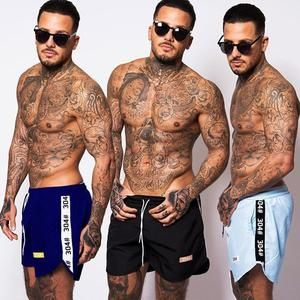 304Clothing Mens Shorts Casual Slim Fit Swim Trunks