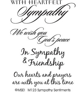 MSE Clear Stamps - Sympathy Sentiments: stamps: stamping: scrapbooking: Shop   Joann.com