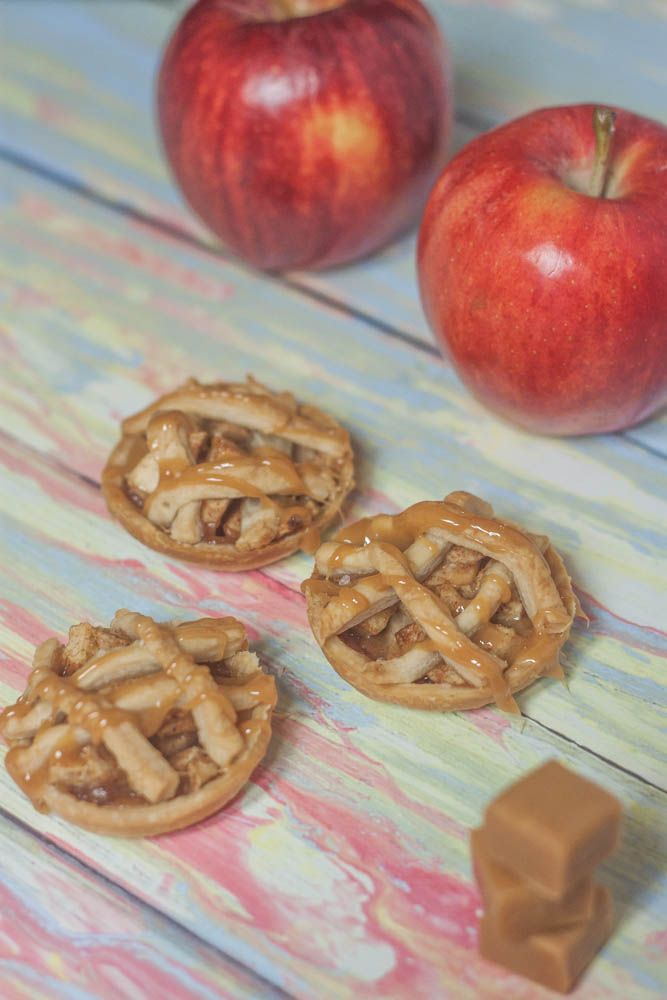 Love these mini apple pies with a caramel drizzling and sea salt!
