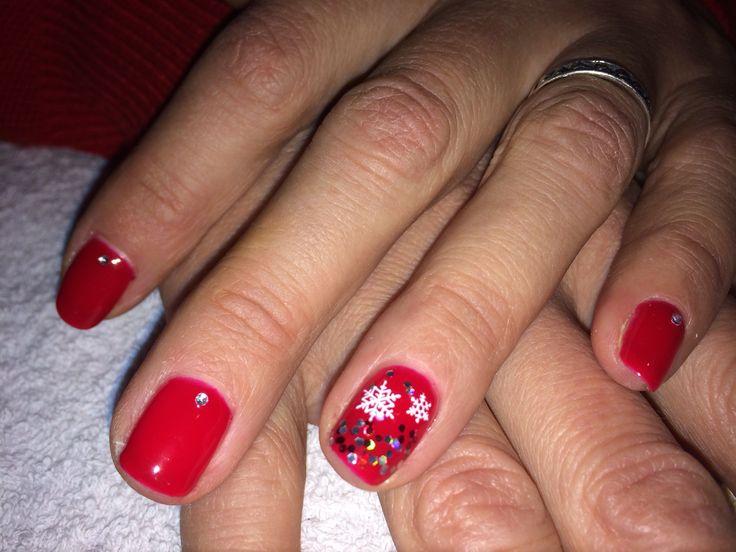 #red_nails #christmas_nailart