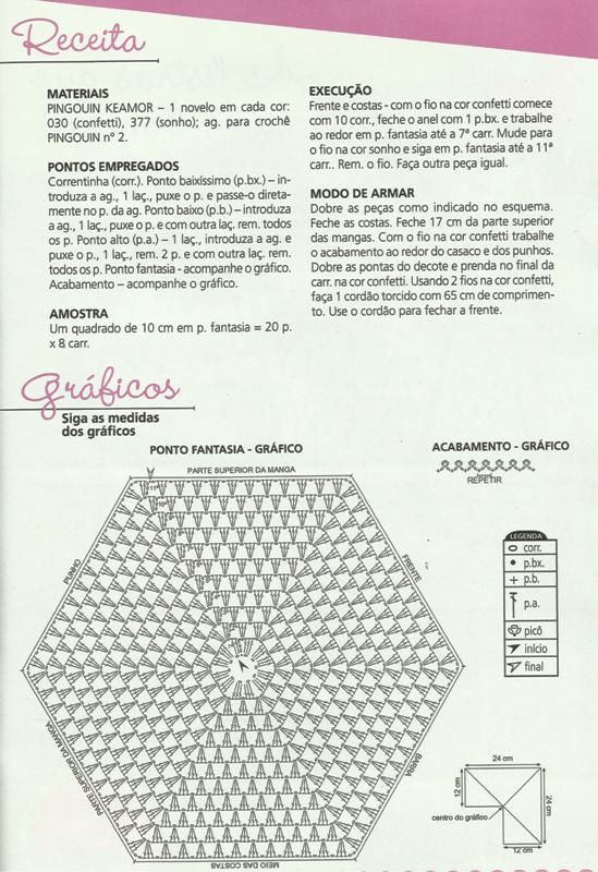 Este casaquinho em crochê com motivo hexágono é um sucesso! Adoro fazer, é bem rapidinho, mas o tamanho é pequenino, de 0 a 3 mes...