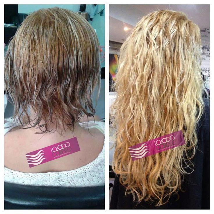 Que lindo...! Aplicação realizada pelo Atelier das Extensões - Quarteira  300 gramas cabelo asiático natural - Comprimento: 65 Cms - Aplicação: Nó Italiano
